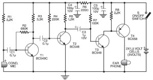 Cheap Hearing Aid Circuit Diagram