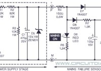 Power Supply Failure Alarm Circuit Electronic