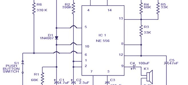 Train Horn Circuit Electronic