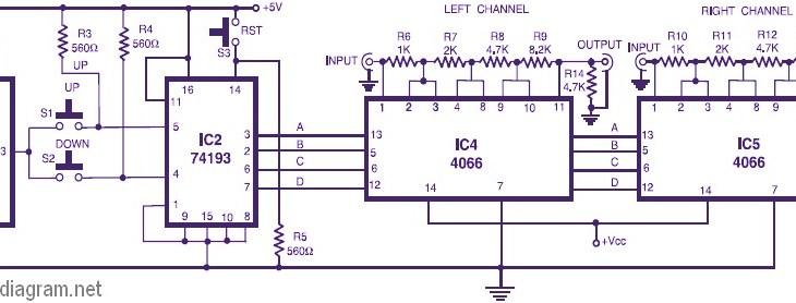 stereo digital volume control circuit