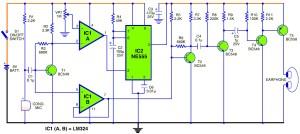 Sensitive hearing aid circuit diagram
