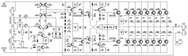 2000w class ab power amplifier schematic design