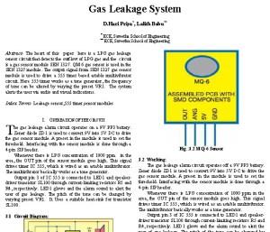 LPG Gas Leakage Sensor Alarm Report
