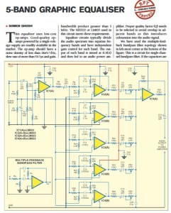 5 Band Graphic Equaliser Circuit Project