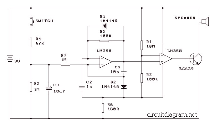 Simple Electronic Siren Circuit