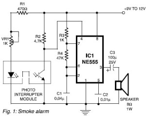 Really Simple Smoke Alarm Circuit