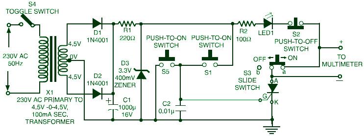 Triac, SCR, Transistor Tester  Schematic Design