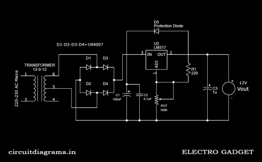adjustable voltage power supply