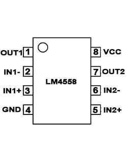 4558 ic pinout