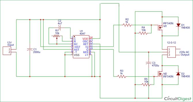 circuit diagram of inverter  diy wiring diagrams •