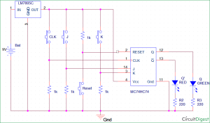 JK FlipFlop Circuit Diagram, Truth Table and Working