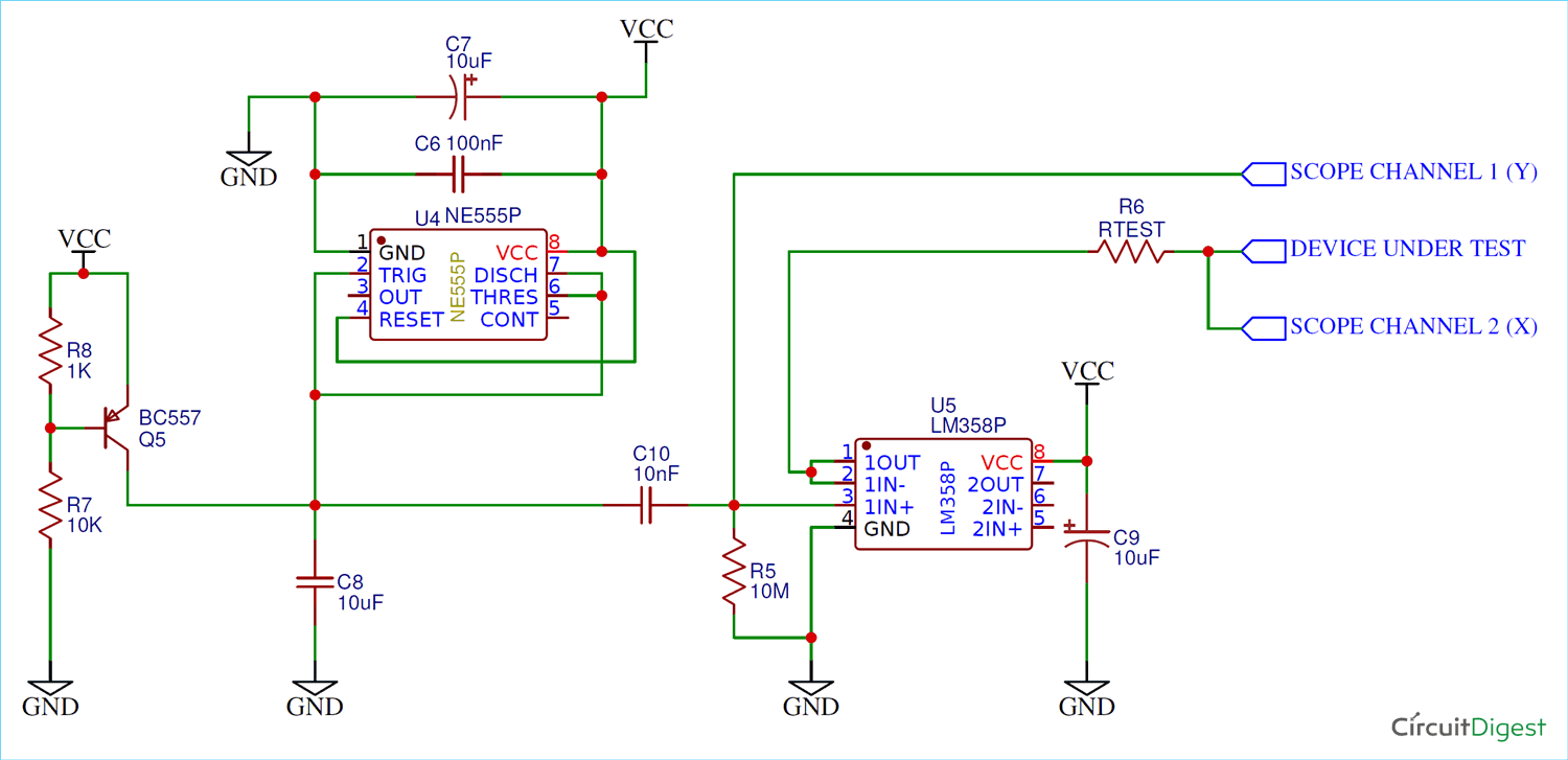 Simple Curve Tracer Circuit: Tracing The Curve For