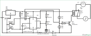 Simple Time Delay Circuit Diagram using 555 Timer