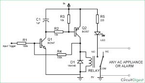 Simple Latch Circuit Diagram with Transistors