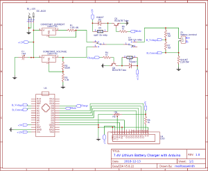 74V Two Step Lithium Battery Charger Circuit  CC and CV mode