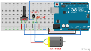 DC Motor Speed Control using Arduino and Potentiometer