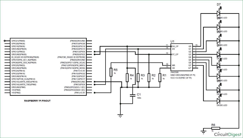 Raspberry Pi 74hc595 Shift Register Tutorial