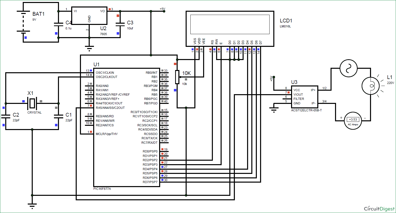 Circuit Diagram Ammeter On Note The Meter S Indication Of