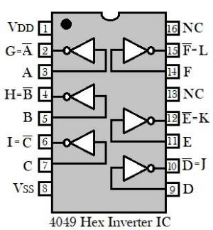 Simple LED Torch Circuit Diagram using 4049 IC