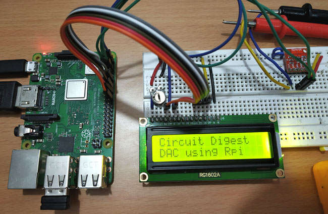 Raspberry Pi MCP4725 DAC Interfacing on Hardware