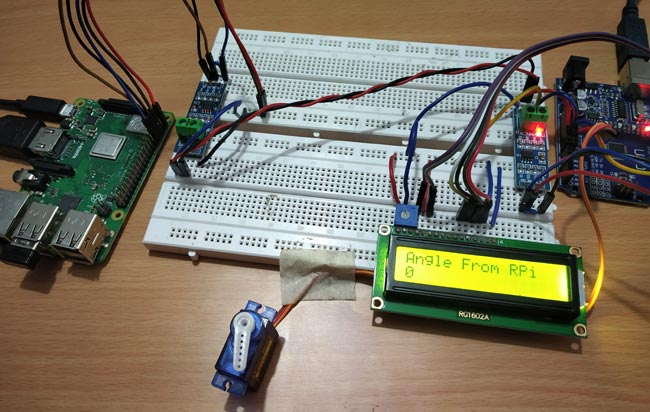 Pi to Arduino to Control Servo angle to 0 via RS-485 Serial Communication