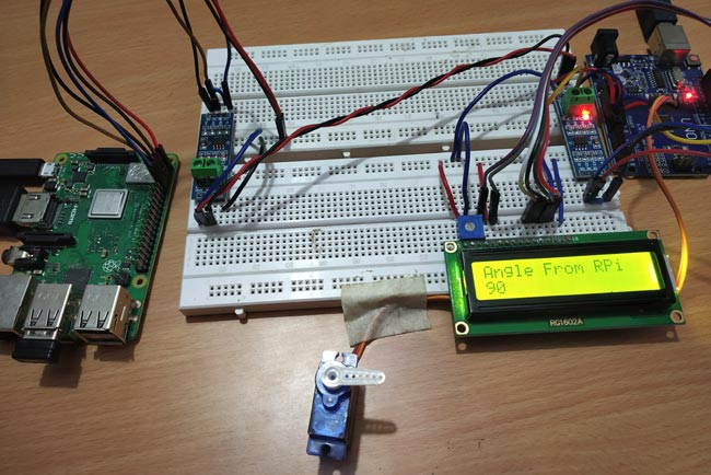 Pi to Arduino to Control Servo angle to 90 via RS-485 Serial Communication