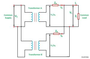 Parallel Operation of a Single Phase Transformer  Circuit