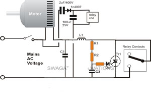 Exploring the Motor Soft Starter with SSR's   Circuit