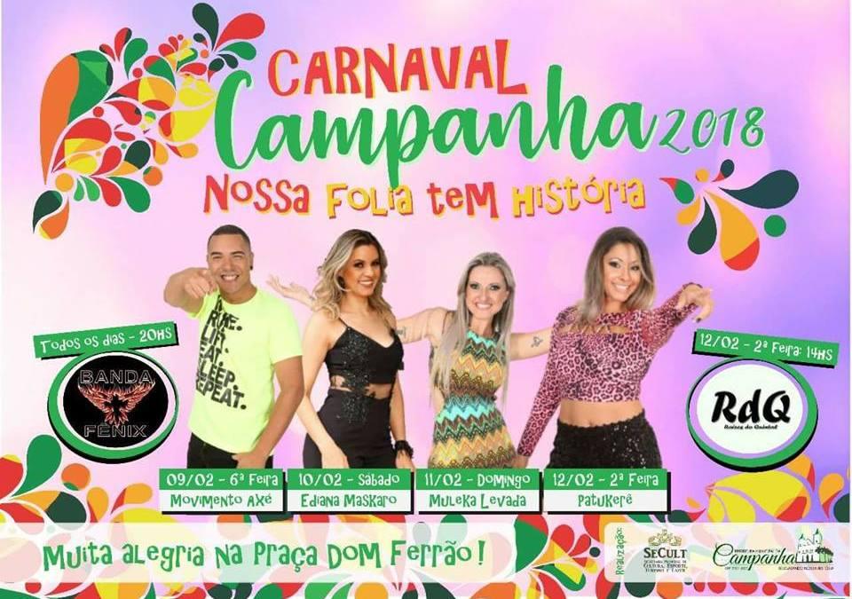 Campanha – MG e o Carnaval 2018