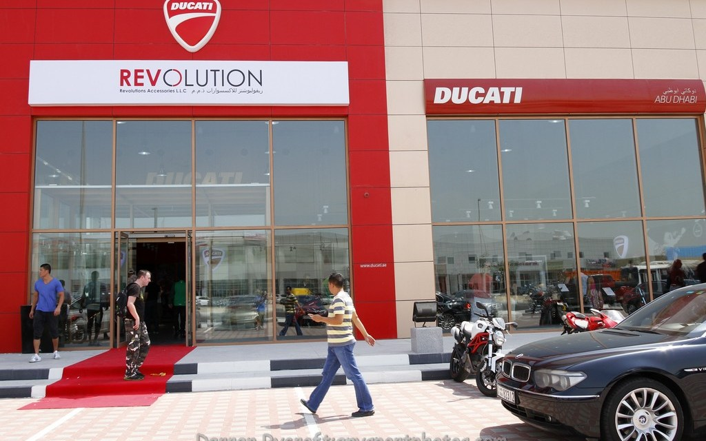 Ducati motorcycles roll into Abu Dhabi