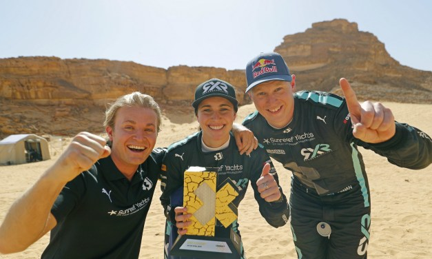 Rosberg X Racing makes history as first Extreme E winner following dramatic desert dust-up in Saudi Arabia