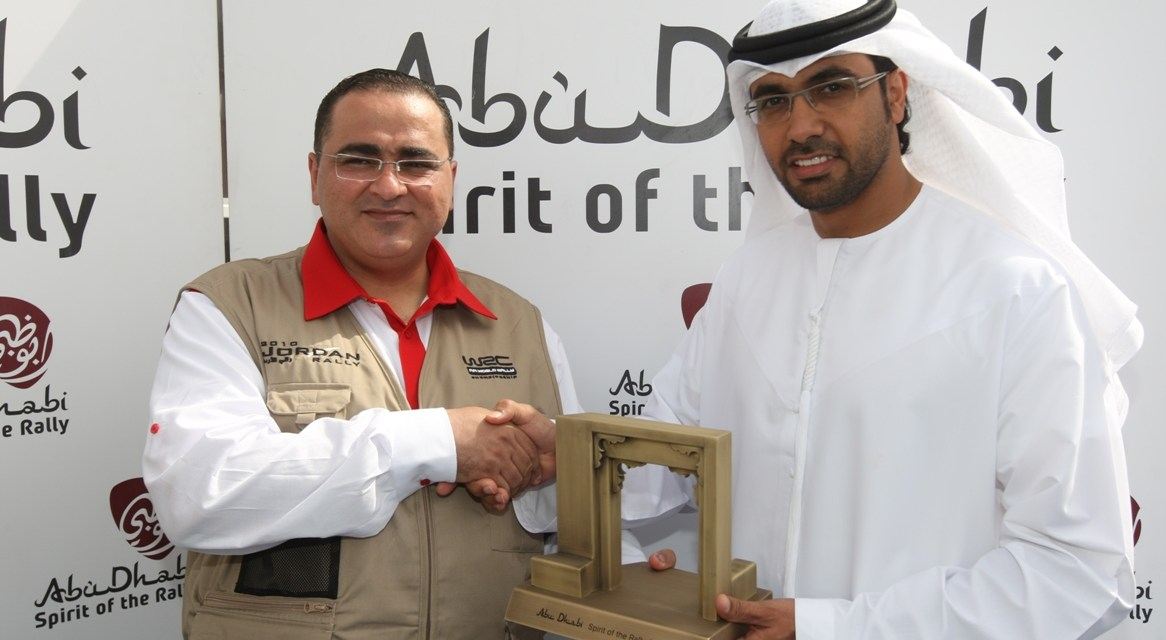JORDANIAN NATIONAL EFFORT REWARDED WITH ABU DHABI SPIRIT OF THE RALLY