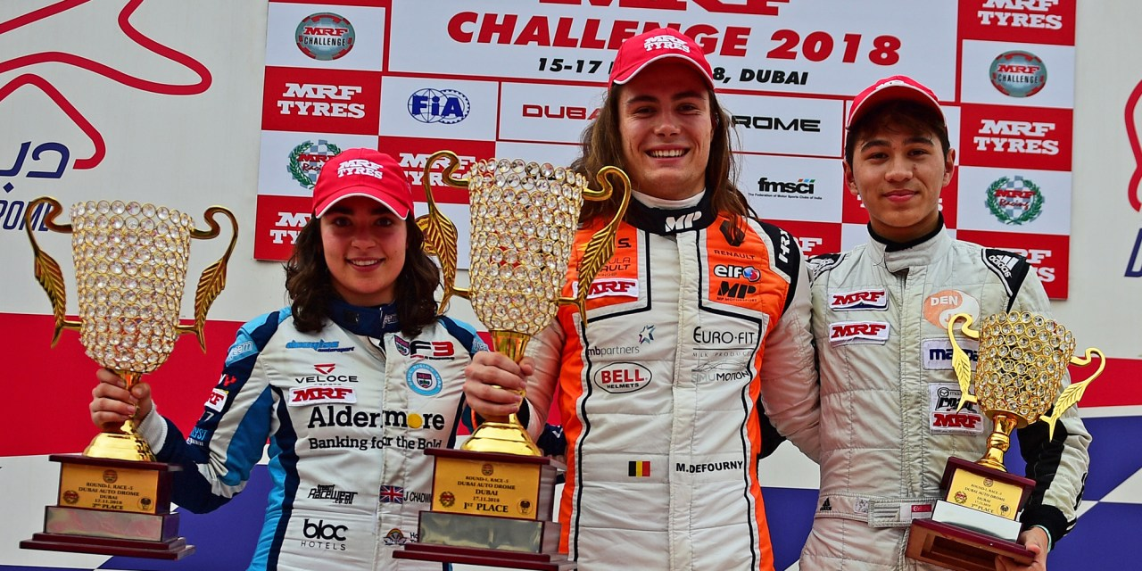 Dubai: Double wins for Max Defourny in MRF Challenge