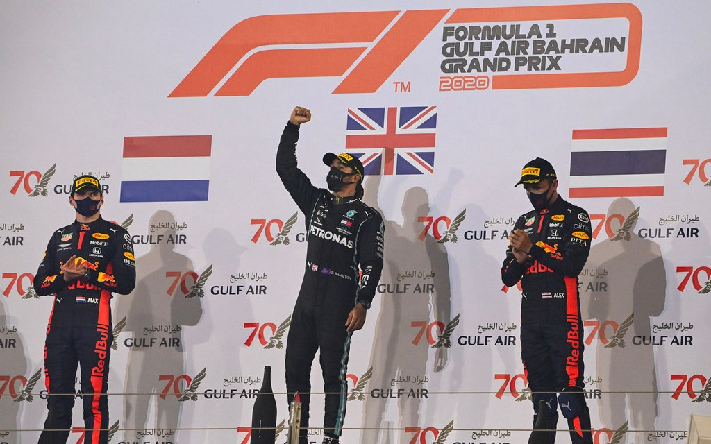 F1: Hamilton wins incident-filled F1 Gulf Air Bahrain GP