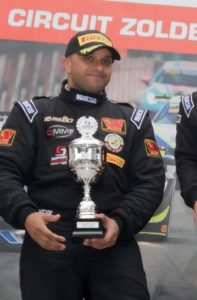 Amro Al Hamad on the podium at Zolder in second place