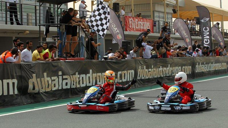Dubai: Batelco Racing fend off big challenge to claim victory at the Kartdrome