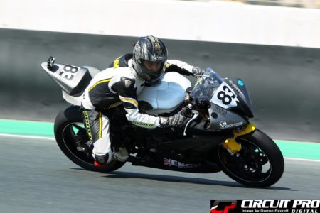 Sabah Mukri, the first lady racer in the sportsbike series at the Dubai Autodrome