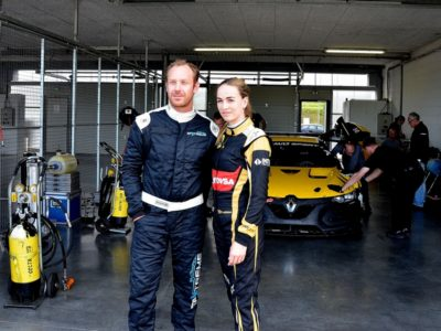 Jordan with teammate Carmen Jorda - Renault F1 development driver with whom he will contest the forthcoming Renault Sport Championship
