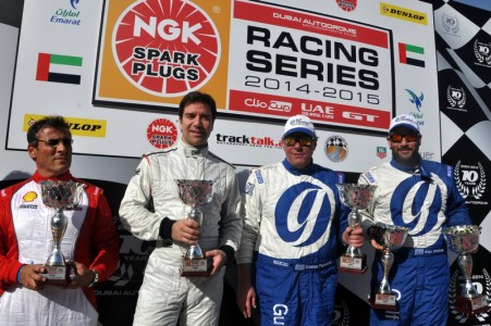 NGK Racing Series class winners (L to R) Tani Hanna, Andy Marshall, Costas Papantonis and Alexandros Annivas