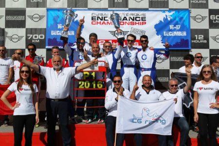 CG Racing Pro wins 2016 Endurance Championship Driven By MINI Pro title