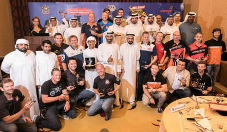 Mohammed ben Sulayem with all the trohpy winners