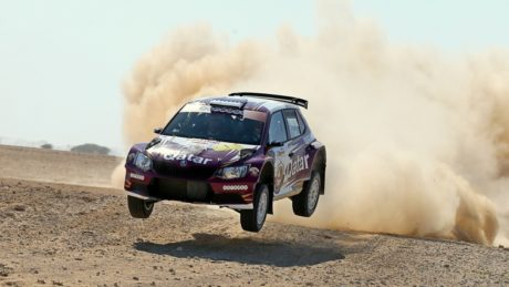 11-time FIA Middle East rally champion won all the 13 timed special stages at the second round of the regional series and reached the finish in Fintas on Saturday afternoon with a winning margin of 11min 24.9sec.