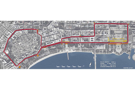 Provionsal Track Layout 2016 Baku European Grand Prix