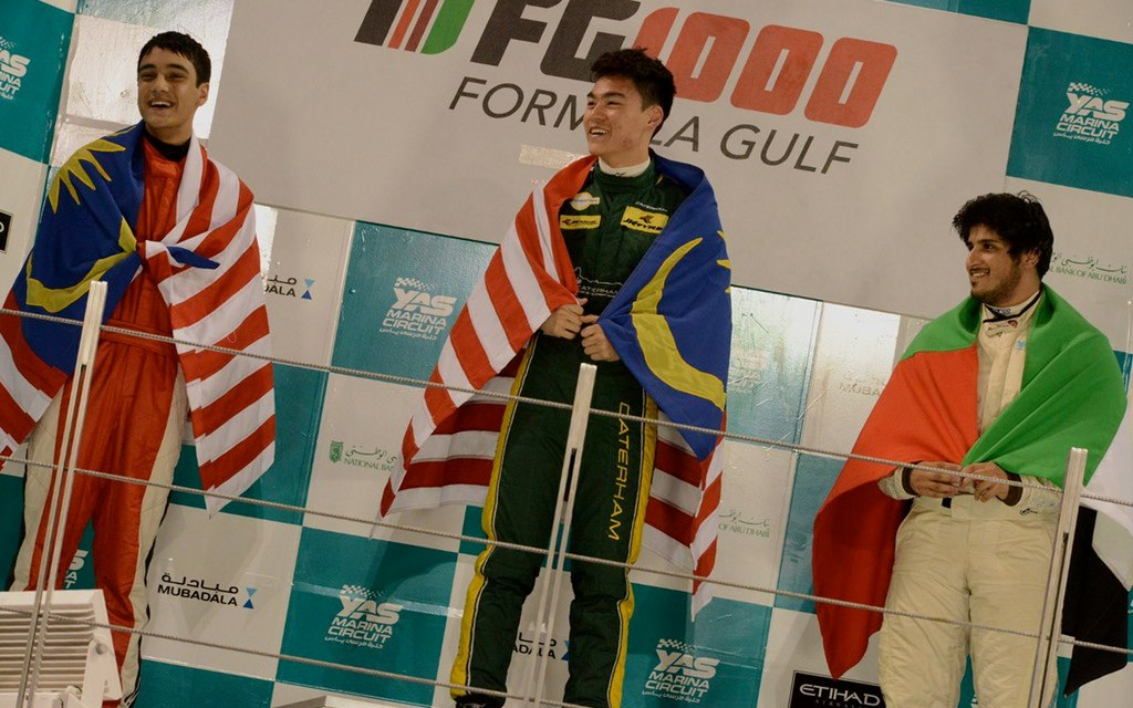 Formula Gulf 1000: Saeed Bintouq takes his first win on home ground while newcomer Weiron Tan shows fine pace