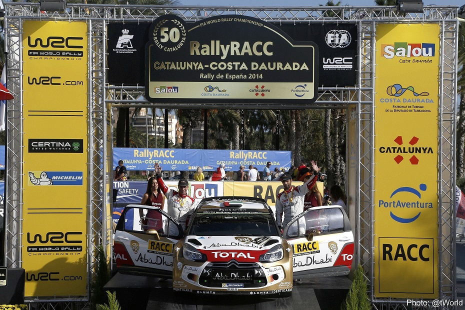 WRC: Abu Dhabi World Rally Team claim valuable points in Rally Spain as Al Mutawaa wins in DS3 R3
