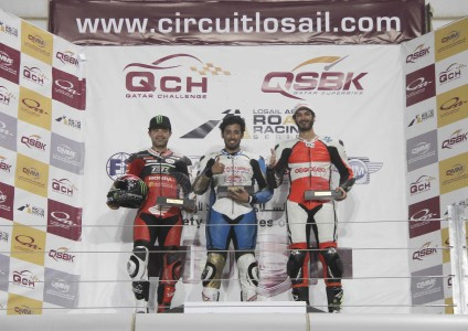 Supersport championship podium