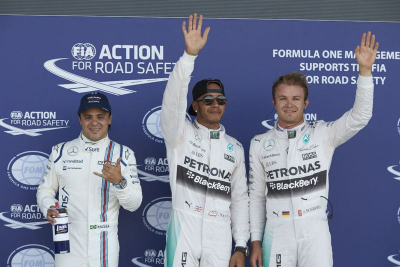 F1: Mercedes driver Lewis Hamilton takes Pole at home British GP at Silverstone
