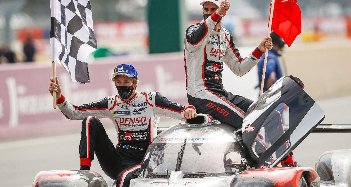 Le Mans: Toyota LMP1 celebrates hat trick triumph in last Le Mans appearance to take LMP1 FIA World Endurance Championship title