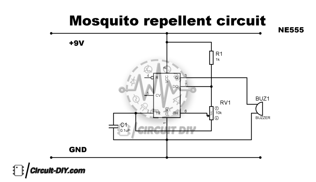 How To Make Mosquito Repellent Circuit Using 555 Timer