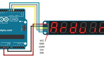 Moving message display using arduino | Circuits4you com